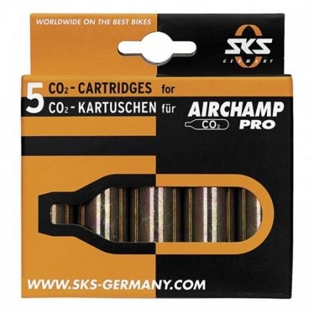 Cartucho Co2 para SKS AIRCHAMP PRO - 5 unidades 16gr