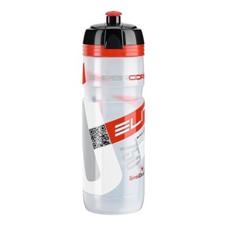 Bidon Elite Super Corsa Transparente Rojo Bio 750 ml