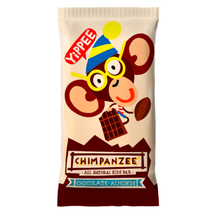 Barrita Chimpanzee Kids Chocolate/Almendras 35gr
