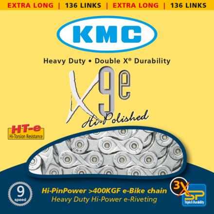 Cadena KMC X-9 Bici Eléctrica