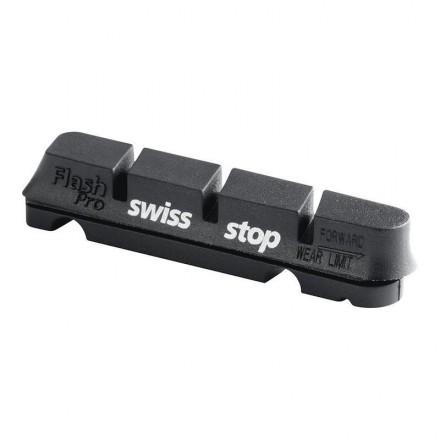 Kit 4 zapatas SwissTop Flash Negro aluminio