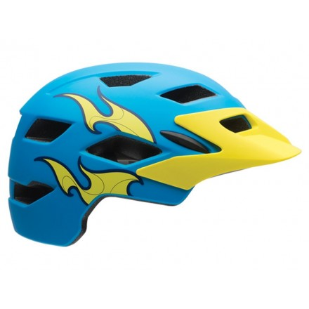 Casco Bell SideTrack Junior Azul/Amarillo