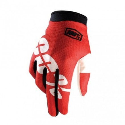 GUANTES 100% ITRACK (FIRE RED)