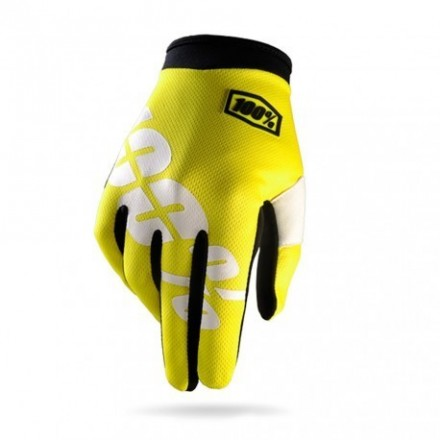 GUANTES 100% ITRACK (NEON YELLOW)