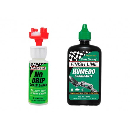 KIT FINISH LINE LIMPIADOR+LUBRICANTE HUMEDO 4oz