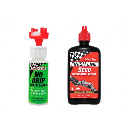 KIT FINISH LINE LIMPIADOR+LUBRICANTE SECO 4oz
