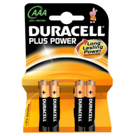 Pila Duracell Alcalina Plus Power AAA