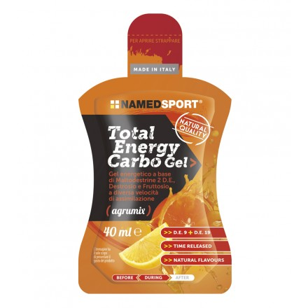 GEL NAMEDSPORT TOTAL ENERGY CARBO AGRUMIX 40ML