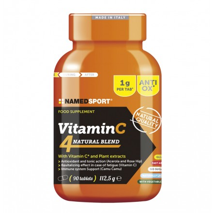 VITAMINA C4 NAMEDSPORT MEZCLA NATURAL (90 CAPS)