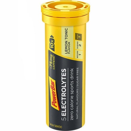 ELECTROLYTES 5 POWERBAR LEMON CAFEINA 10 PAST.